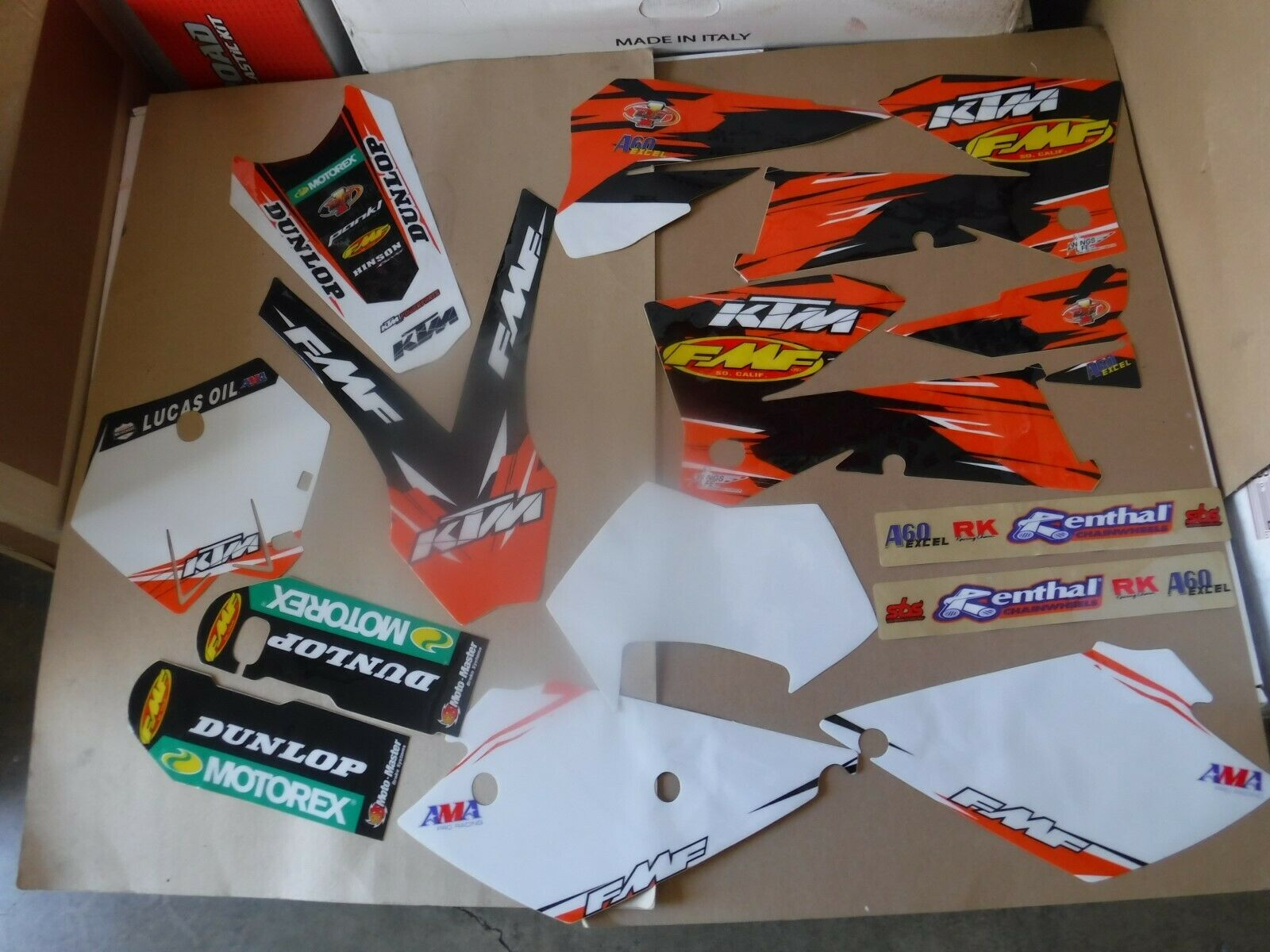 TEAM FMF KTM GRAPHICS & nmbr plates  2005 2006 SXF  SX & 2006 2007 EXC XCFW  XCW 2
