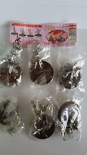 Yujin Disney Mickey Mouse diecast silver figures gashapon set of 6 USED