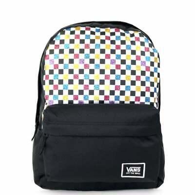 VANS Glitter Check Realm Backpack VN0A48HGUX91 VANS Schoolbag