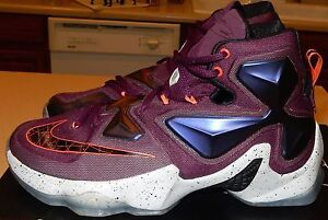 71d9d460bc4 NIKE LEBRON XIII 13 807219-500 Mulberry Purple Mens Size 8.5 With ...