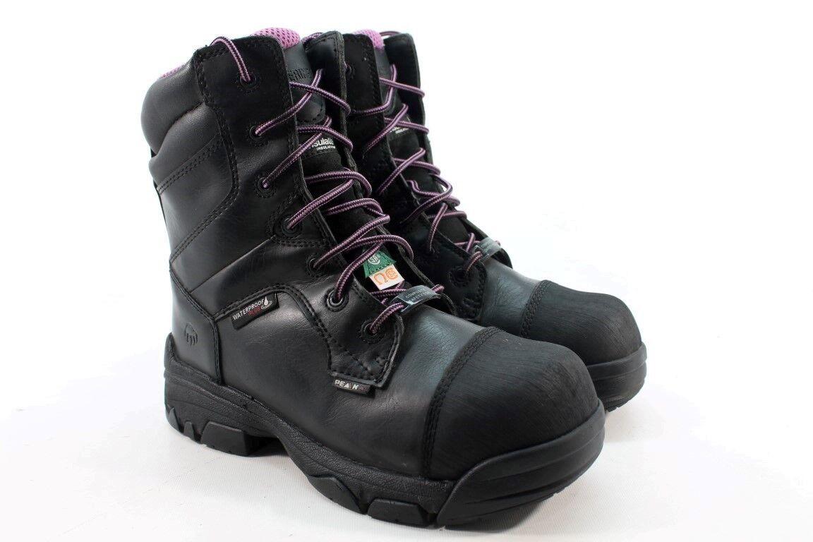 Wolverine Women's 8 8 8  WP Condor CTCP Black Work Boots Wide UK 7  EU 40  1670 2650c5