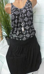 Sheego-Dress-Fabric-Dress-White-Black-Size-44-to-46-520