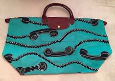 LONGCHAMP X JEREMY SCOTT Le Pliage TURQUOISE TELEPHONE Bag FIRST LC BAG BY JS!!