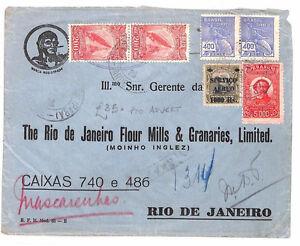 AR218 1932 BRAZIL ADVERT COVER Caixas High Rate Airmail Rio {samwells-covers}