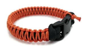 Handmade Paracord Bracelet Grey//Red Micro Cord 550 U.S Seller Free Shipping