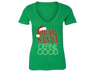X-Mas Shirt Naughty or Nice V-Necks Good list Shirt Define Good V-Neck Shirt Dear Santa Dear Santa Define Good Christmas Shirt Santa Shirt Unisex V-Neck Shirt Christmas Outfit