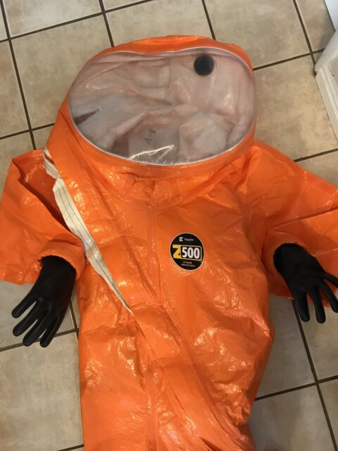 Kappler Z5h580 L Xl Level A Fully Encapsulated Hazmat Suit Grey For Sale Online Ebay