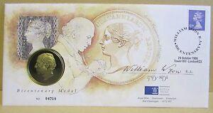 1995 édition Limitée Pnc Stamp & Médaillon Cover-william Wyon R.a. Medallion-afficher Le Titre D'origine