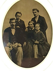 Photographie-Ambrotype-Date-1865-Famille