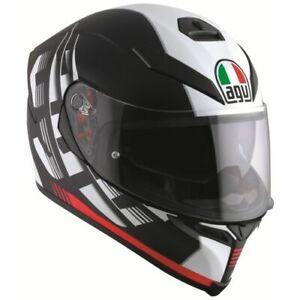 AGV K5 S Darkstorm Motorrad Integralhelm AGV Motorradhelm matt schwarz rot NEU
