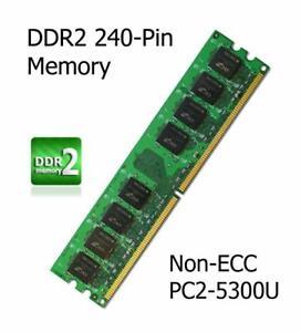 512 Mo DDR2 mise à niveau de mémoire Asus P5L-MX Carte mère Non-ECC PC2-5300U