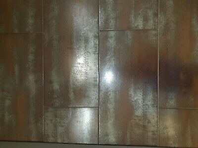 Metallic Copper Wall And Floor Tile