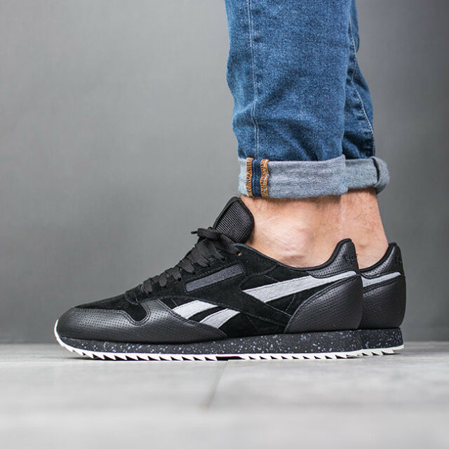 Reebok Classic Leather Ripple SM Bs9726 Black Halfshoes Us10.5  28.5 ... cc7a93293