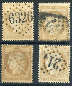 TIMBRE-FRANCE-OBLITERE-LOT-N-59-DIVERS-OBLITERATIONS-NUANCE
