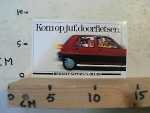 STICKER-DECAL-RENAULT-SUPER-5-5-DEURS-CAR-AUTO-KOM-OP-JUF-DOORFIETSEN-A