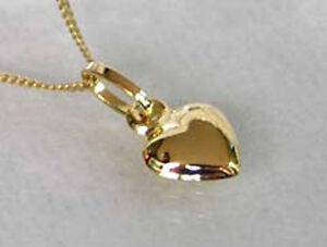 ECHT-GOLD-Herz-Anhaenger-Kette-GOLD-DOUBLE-Herzkette