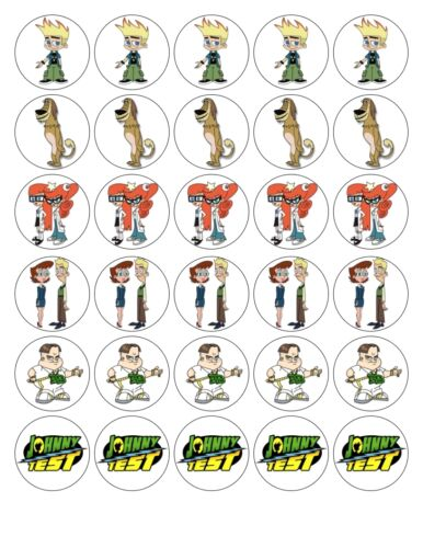 30X 4cm johnny test comestible fondant//gaufre fée cup cake toppers