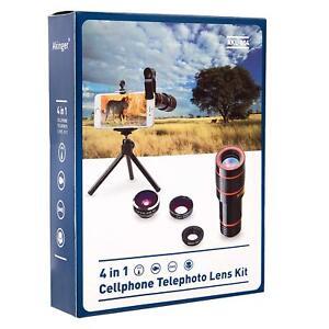 Telephoto Lens Kit | Zoom Lens, Macro Lens, Fisheye Lens 4 in1 Bundle by Akinger