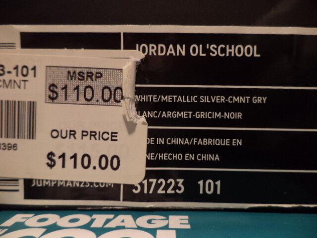 2007 nike air jordan nero ol'school bianco nero jordan cemento grigio fuoco rosso 317223-101 ds 11 dde801