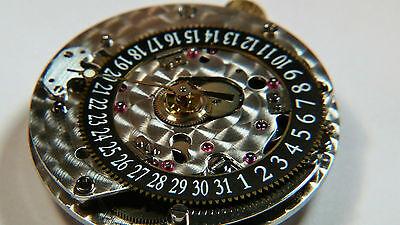 ETA 2892 A2 Corum, date at 6 o'clock, Calibre 2047, (BLACK), watch part movement