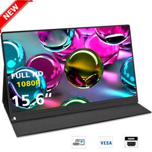 "Ultra Thin 15.6"" LCD Portable Monitor PC Screen USB C HDMI For Raspberry PI 3B 4"