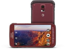 New Samsung Galaxy S5 Active SM-G870a 16GB AT&T Unlocked Android Smartphone Red