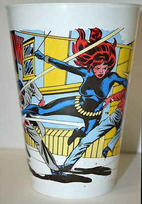 BLACK WIDOW MARVEL SUPER HEROES 7-11 CUP 1977 Avengers
