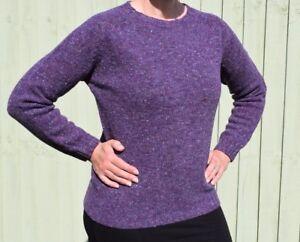 a084cc6af4 Harley of Scotland Purple Fleck 100% Merino Wool Jumper Sweater ...