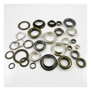 EYELETS-6mm-17mm-6-SIZES-GROMMETS-SILVER-ANTIQUE-BRASS-amp-BLACK-UK-SELLER