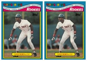 (2) 1988 Topps Toys R' Us Rookies Baseball 14 Sam Horn Lot Boston Red Sox