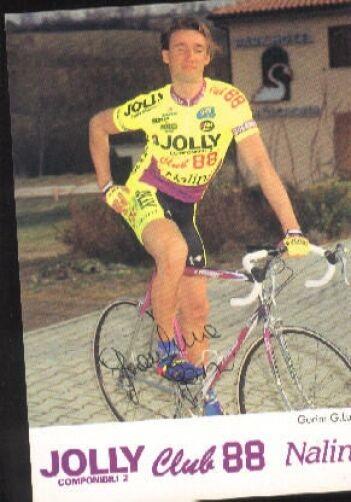 GIANLUCA GORINI Signée JOLLY CLUB 88 cyclisme Autographe Autographe cyclisme cycling ciclismo vélo a3255f