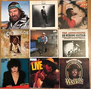 44x COUNTRY LP's VG/VG+ Lot #16 Outlaw Rock WILLIE WAYLON Cash LOVETT Chet HANK