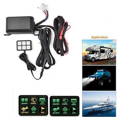 wiring harness for vehicle with 12V DC power 6 Switch Panel relay control box