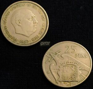 GUTSE-FRANCO-348-25-PESETAS-1957-64-MBC