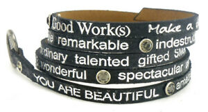 Good-Works-Make-a-Difference-Wrap-Metallic-Leather-Bracelet-Smokey-Crystals