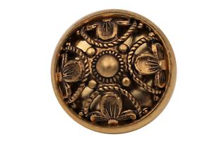 filigrane gold antik Metall Knöpfe Dirndl Tracht Gewand gewölbt 6 Stück