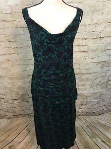 NEW-Liz-Lange-Green-Black-Lace-Pattern-Short-Dress-D4244