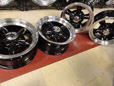 """15"""" x 8 Chevy GMC 1500 truck BLACK Torq Legend wheels 15x8 mag c10 5on5 5x5 Rims"""
