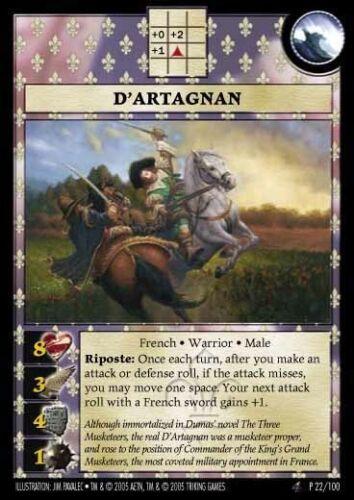ANACHRONISM PROMO D/'artagnan P22 gem mint condition