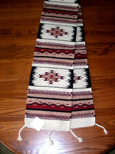 "Table Runner Handwoven Wool 10x80"" Southwestern Native American Design #36"