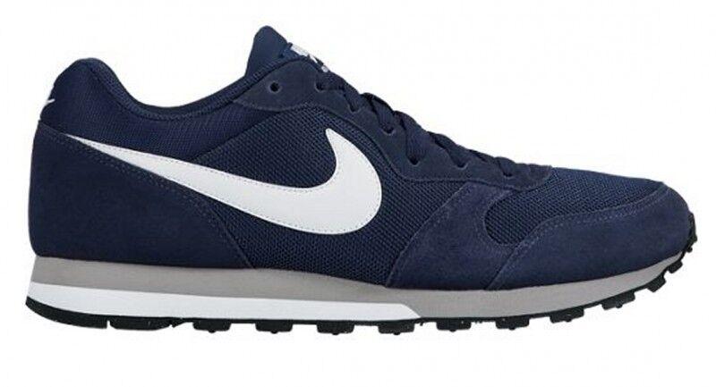 NIKE Herren Lifestyle Freizeit Sport Schuhe MD Runner 2 M Navy Blau NEU