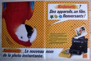 Publicité Papier - Appareil Photo Kodamatic De 1982