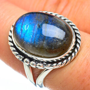 Labradorite-925-Sterling-Silver-Ring-Size-8-Ana-Co-Jewelry-R45300F