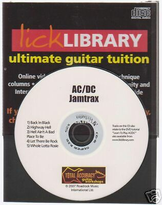 Lick Library AC//DC Guitar Jamtrax Play Jam Trax CD LEARN BACK IN BLACK ROCK HITS