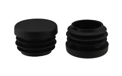 Fusskappen Gartenstuhl verstärkter Boden 4 x Fussstopfen Ø 16mm schwarz rund