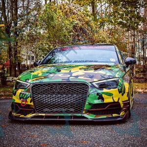 Fits-Audi-S3-S-Line-13-17-Carbon-Front-Bumper-Splitter-Lip-A3-V8-Sedan-Limousine