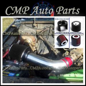 Black Air Intake System Kit For 86-92 Ford Ranger 2.9L V6 OHV