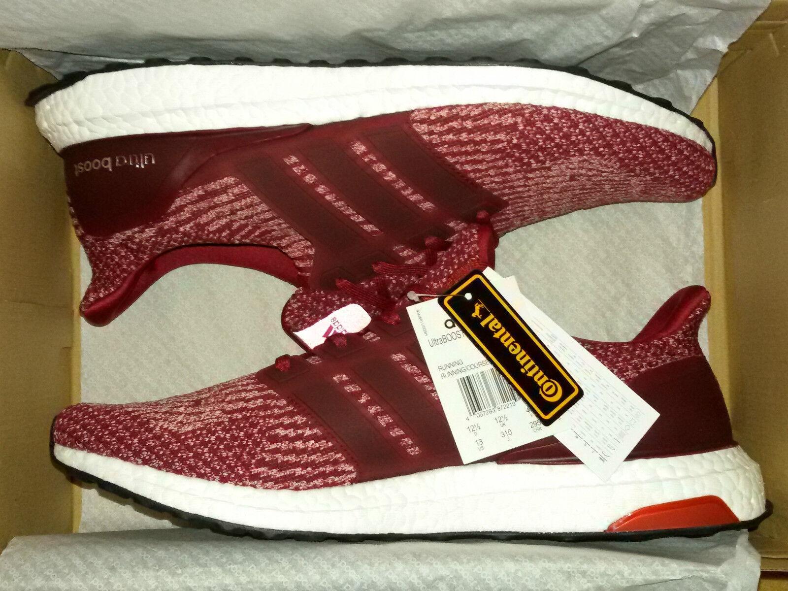 Adidas Ultra Ultra Ultra Boost 3.0 Borgogna 12.5 UK MISTERO Rosso scarpe da ginnastica Uomo BA8845 in esecuzione 21eeae