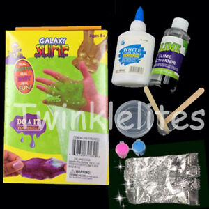 Details About Diy Glitter Slime Kit Toy Gift Stress Relief Floam 3d Butter Mud Craft Clay
