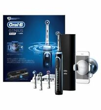 New in Box Oral-B GENIUS Pro 8000 Black Electric Toothbrush Bluetooth 6 modes